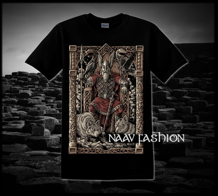 ODIN ON THE THRONE, VIKING T-SHIRT