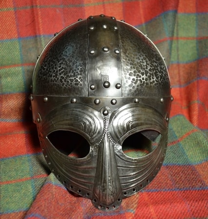 VALGARD, luxury decorated viking helmet with the face mask