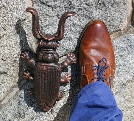 Stag Beetle, boot jack, metal