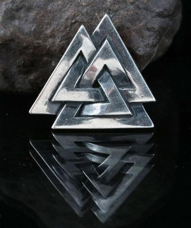 Valknut Viking Symbol Sterling Silver Pendant Wulflund Com