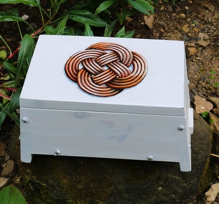 Wooden Chest - Celtic knot