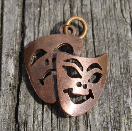 TRAGEDY AND COMEDY, Theatrical Masks, pendants
