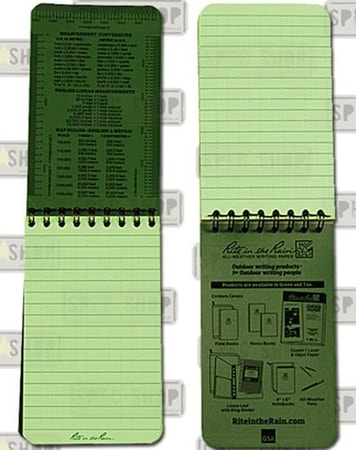 Rite in the Rain - All-Weather Notebook - 3x5'' - 935T - Tan