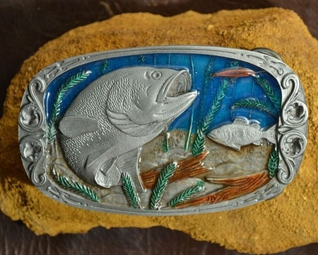 FISH, fishing belt buckle