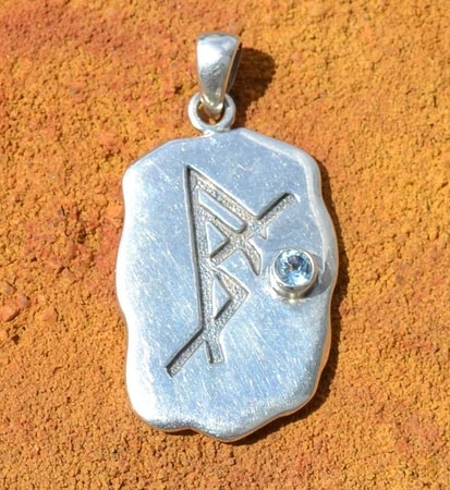 SELF CONFIDENCE, silver bind rune pendant, Ag 925