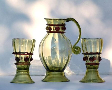 HEROLD red, historical glass set