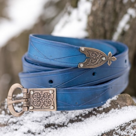 BLEU ROI, MEDIEVAL LEATHER BELT