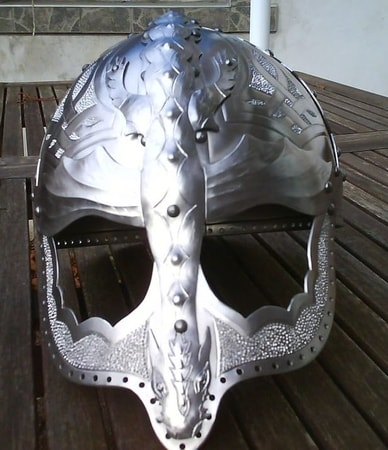 VIKING - DRAGON, fantasy viking helmet