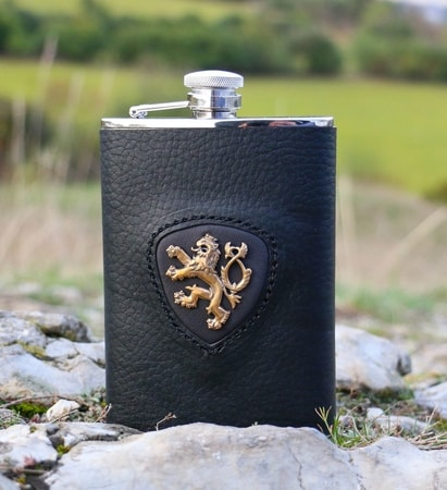 HIP FLASK, LION, KINGDOM OF BOHEMIA