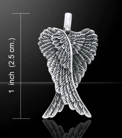 WINGS OF AN ANGEL. silver pendant