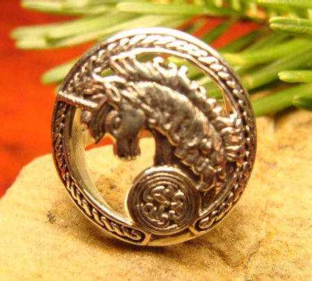 CELTIC UNICORN, silver ring