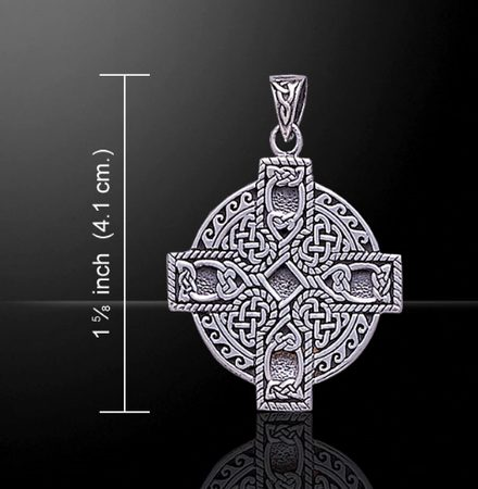 IRISH CROSS, thick silver pendant, Ag 925