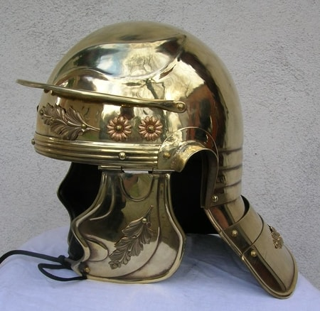 Imperial Gallic helmet - brass - functional
