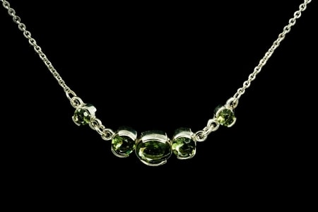 ELARA, Moldavite, necklace, silver