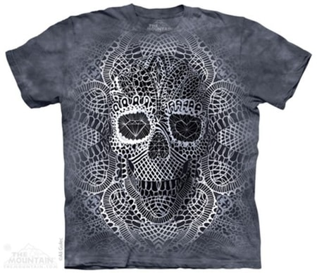 Lace Skull, Fantasy, T-Shirt The Mountain