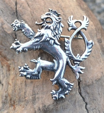 BOHEMIAN LION, sterling silver brooch