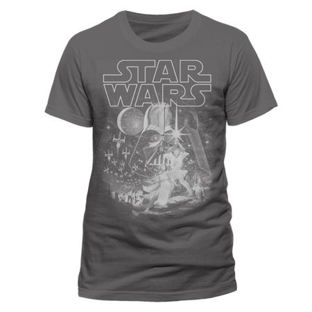 Star Wars - Classic, New Hope, Unisex T-shirt - Grey