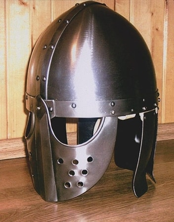 HELM WITH FACE MASK