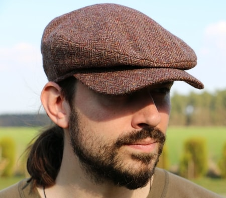 DAITHI Cap Tweed, red, Ireland