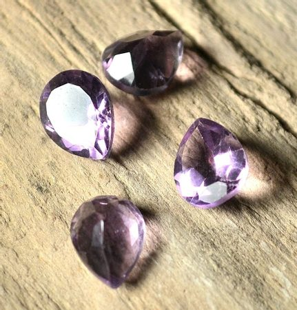 Amethyst Brazil, Facetted, pear,  9 x 7 mm