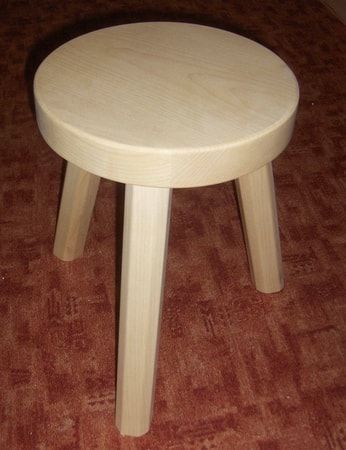 WOODEN HISTORICAL STOOL