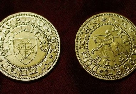 Mailberg Ducat, replica of a medieval coin