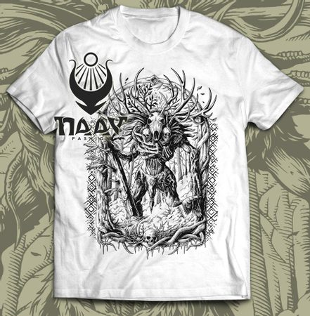 LESHY, men's T-shirt b&w