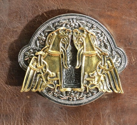 IRISH EAGLE, luxury celtic belt buckle