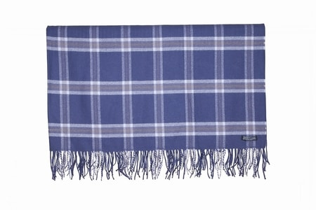 SWEDISH PURPLE CHECK, lambswool blanket