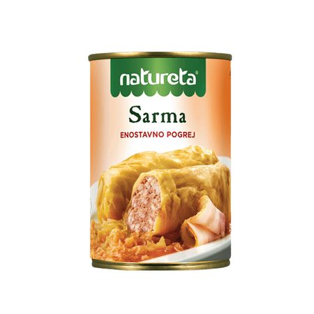 SARMA CABBAGE LEAVES STUFFED WITH RICE 415 G - NATURETA