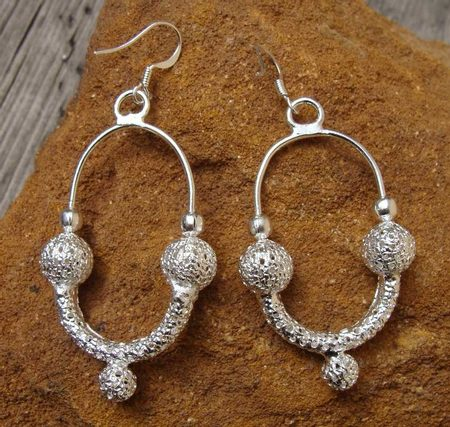 MORAVIA MAGNA, silver plated earrings