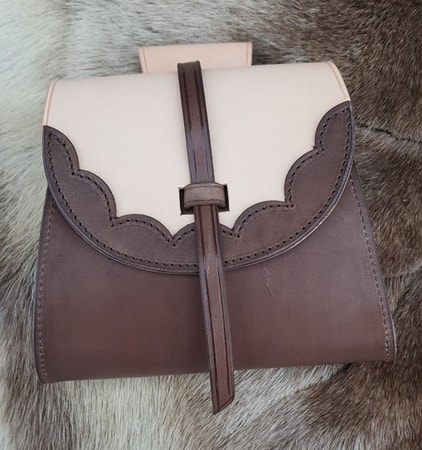 TWO BROWNS, Leather Belt Bag