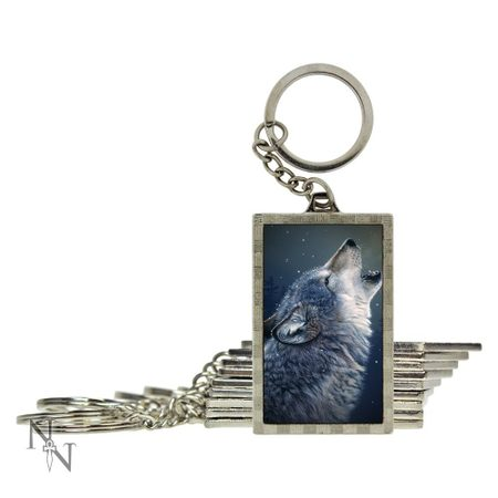 Howling Wolf 3D keychain