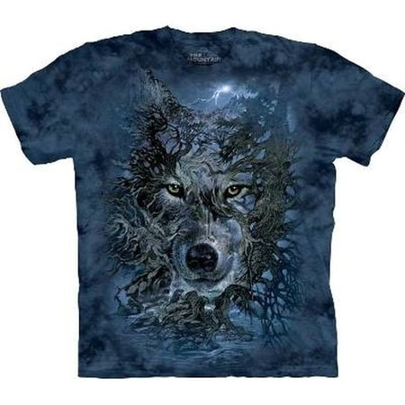 wolf tree dark forest the mountain t shirt. Black Bedroom Furniture Sets. Home Design Ideas