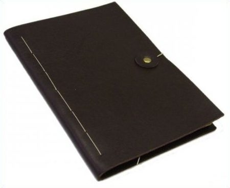 NOTEBOOK IN LEATHER CASE