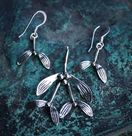Druid Mistletoe - Set, silver