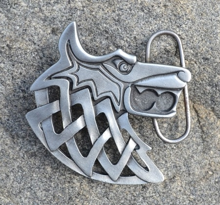 CELTIC WOLF, belt buckle
