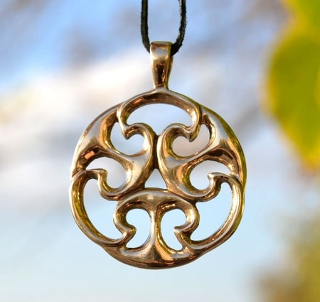 CELTIC KNOT OF LIFE, REPLICA, I. CENTURY, GALLIA?, BRONZE