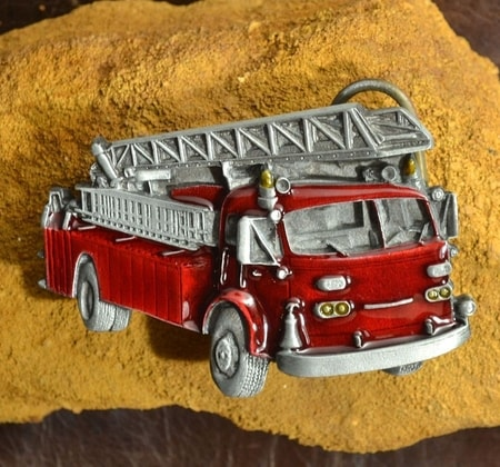FIRE TRUCK BELT BUCKLE