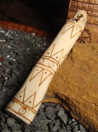 Carved Slavic Needle Case Deer Antler Wulflund Com