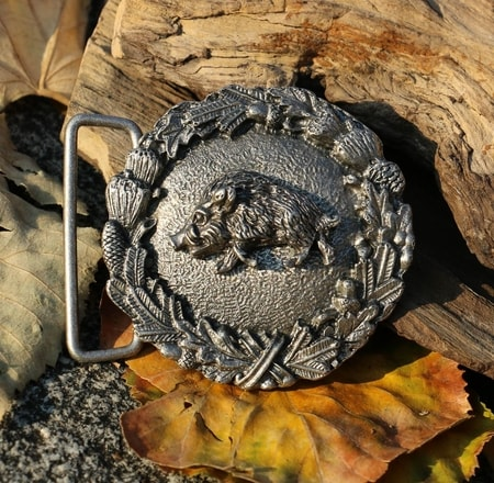 WILD BOAR, belt buckle