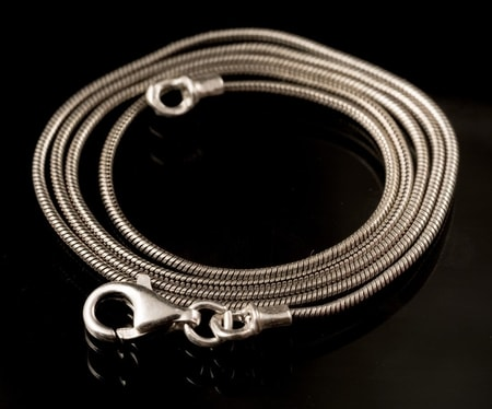 SNAKE, massive sterling silver chain