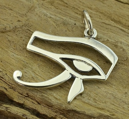 HORUS EYE, ANCIENT EGYPT, SILVER PENDANT