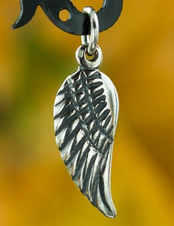 ANGEL WING, silver amulet, Ag 925
