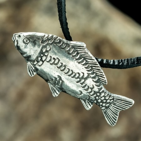 CARP - FISH, FISHING PENDANT, SILVER 925