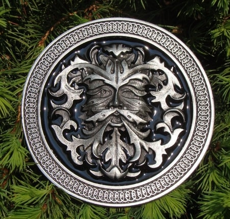 GREEN MAN, belt buckle