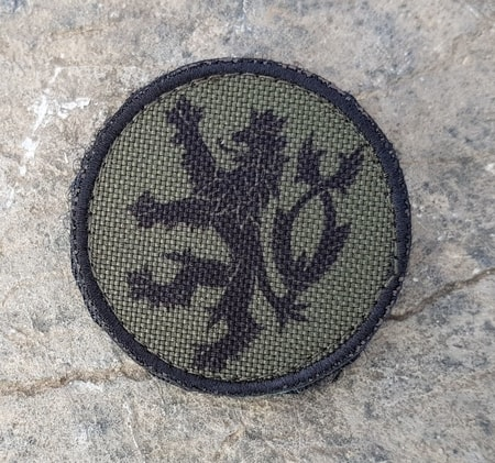Czech Lion - green, Velcro Patch