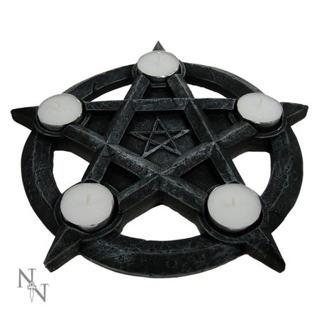 PENTAGRAM GOTHIC WICCAN TEALIGHT HOLDER