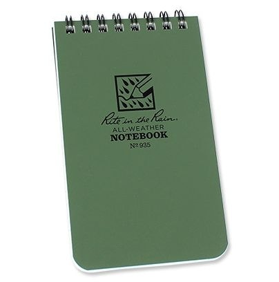 RITE IN THE RAIN - ALL-WEATHER NOTEBOOK - 3X5'' - 935 - OLIVE