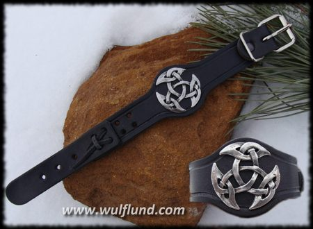 Celtic Knot of Life, Leather Cuff